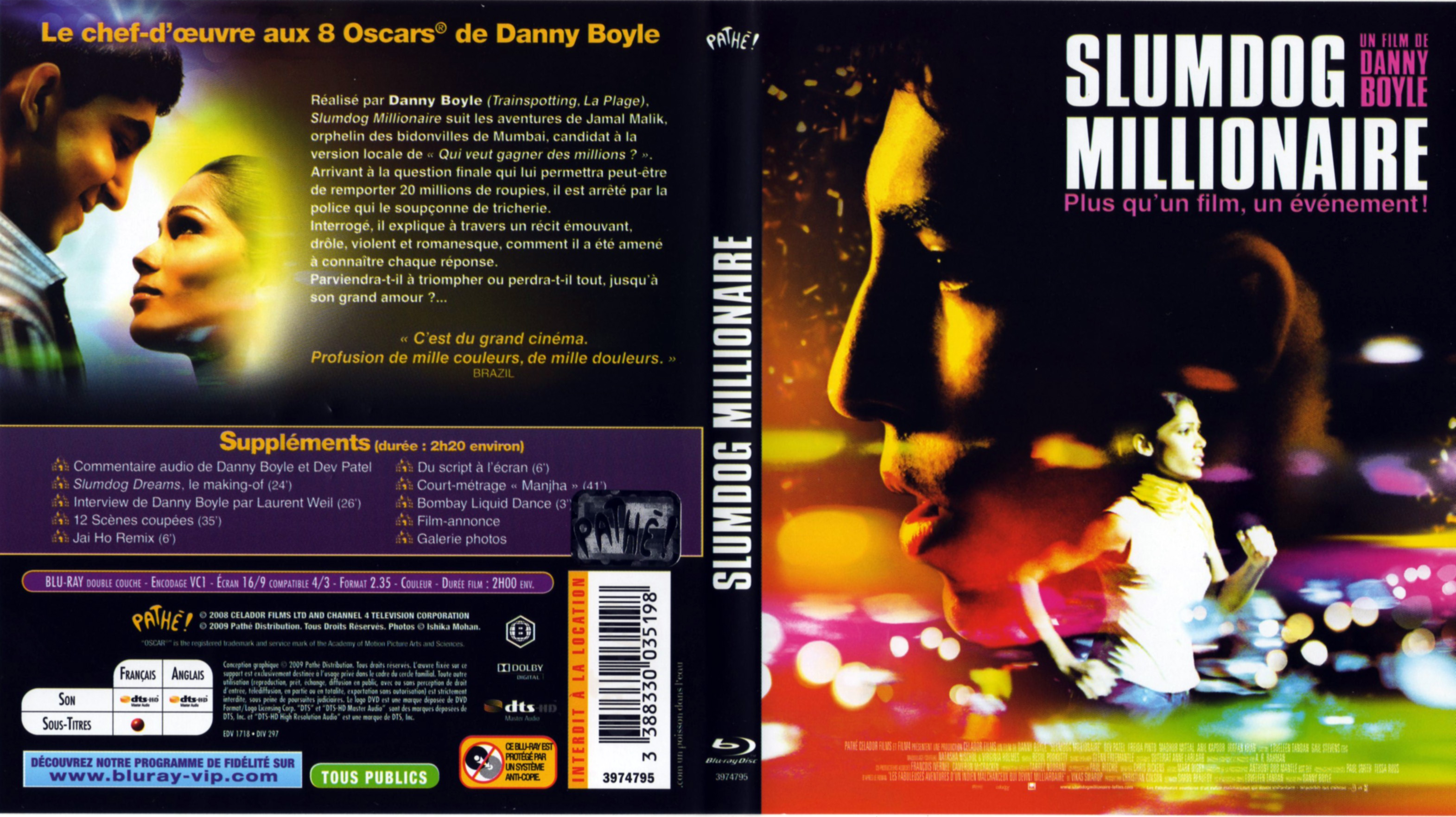 slumdog millionare es Slumdog millionaire is a 2008 british indian drama movie it was directed by danny boyle and based on the novel q&a by vikas swarup, although the movie is very.